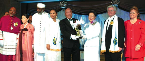 Rev. Moon and Mrs. Moon with Clergy Couples